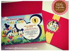 Tarjeta invitación Mickey BB