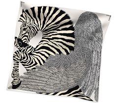 Hermès: Zebra Pegasus Cashmere and silk shawl (140 cm x 140 cm) Ref. H242816S 16 A/W 14-15