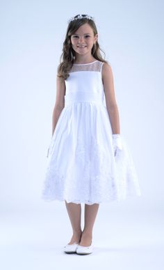 3a98c960a4 Sleeveless Organza Dress with Illusion Neck and Pleated Cummerband