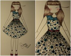 Cute Fashion Illustration by Natany Toffolo   #croqui #retro #fashionillustration