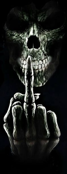 Like the skull coming into view, could live without the finger