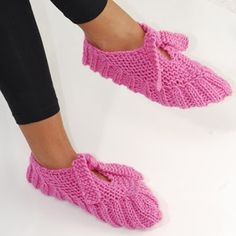 Sapato de dormir em tricô