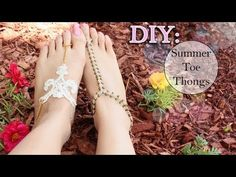 DIY: ☀ Summer Toe Thongs {Lace & Macramé} - YouTube