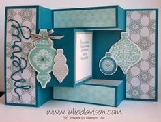 Julie's Stamping Spot -- Stampin' Up! Project Ideas Posted Daily: Ornament Keepsakeri Tri-Shutter Card