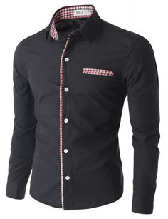 Doublju - Camisa Masculina Casual Slim Fit (CCMTSTL06) Compre roupas de qualidade, com design inovador e preço justo!