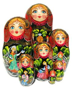 "Girlfriends Nesting Doll (7-pc) 8""H by Sizova.... I want this set!!!"