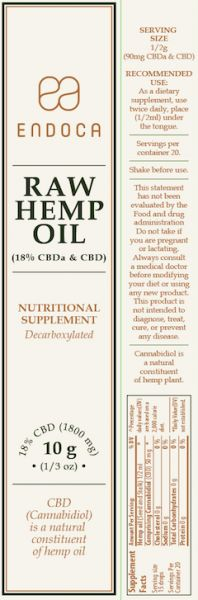 """We offer many natural CBD rich products. Our newest product is raw hemp oil containing CBD and CBDA, produced using very low temperature and high pressure, which is essentially 'juicing' the hemp plants. The only difference is that it is a concentrated, dietary supplement. Consumers can use these dietary supplements and enjoy the tremendous natural benefits they offer."" said Endoca CEO, Henry Vincenty.  #CBD #Endoca #cbdHemp #cbd #hemp #hempoil #legal #cannabinoids"