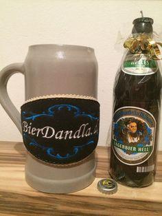 Augustiner Bräu - Bierflaschenkerze aus 100% Wachs in Handarbeit hergestellt.