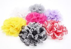 Wholesale Lot 7pcs Handmade Shabby Fabric Mesh Flowers for DIY Headbands Clips #Unbranded  http://www.ebay.com/itm/Wholesale-Lot-7pcs-Handmade-Shabby-Fabric-Mesh-Flowers-for-DIY-Headbands-Clips-/151345014686?pt=LH_DefaultDomain_0&hash=item233cdda79e