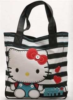 Hello Kitty Stitched Doll Tote Bag