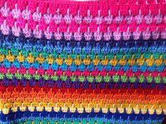 Courveture bébé en crochet multicolore pour landeau et poussette : Puériculture par little-yeya
