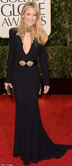 My favorite dress of all times!!!  Kate Hudson - 2013 Golden Globes / Alexander McQueen's Sarah Burton