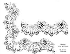 Border Embroidery Designs, Bobbin Lacemaking, Bobbin Lace Patterns, Filet Crochet, Crochet Edgings, Lace Making, Tatting, Diy And Crafts, Album