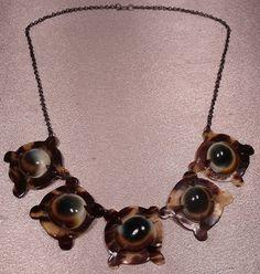 Victorian Operculum Tortoise Shell Antique Necklace