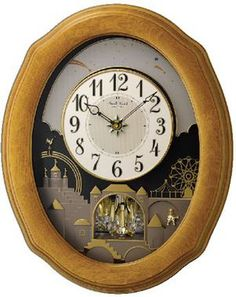 """4MH863WU07 Timecracker Golden Oak II - •Height - 20.7"""" x Width - 16.7"""" •Golden Oak Frame •Automatic Night Shut-off •On/Off for silent time keeping only •Volume Control •Monitor/Demonstration Button •Battery Operated (batteries included) •1 year manufacturers warranty"""