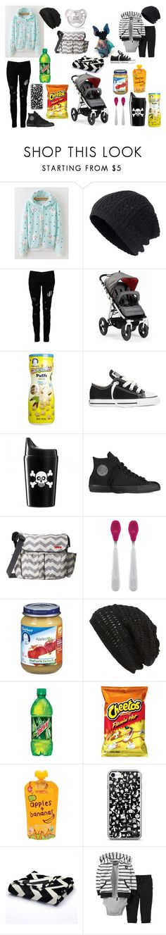 """""""Untitled #24"""" by di-monk on Polyvore featuring Nixon, Religion Clothing, INDIE HAIR, Gerber, Converse, Elodie, Skip Hop, OXO, King & Fifth Supply Co. and Apples"""