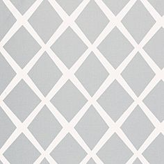 """Fog Diamond Fabric - The uncomplicated nature of this open, airy design makes it easy to combine with other colors and patterns. Fabric Details: 16 oz. 100% cotton canvas. 54"""" fabric width. Pattern size 12.5 x 19.25""""; repeats every 19.25"""" and runs railroaded. Upholstery weight. Care instructions: Spot clean with mild water-free solvent or dry clean."""