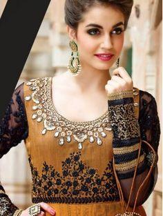 e93a5f9792 Riffat   Sana Silk Karandi Semi-Formal Outfits 2015-2016 For Winter ...