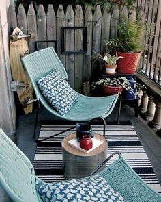 Kleine Sitzecke Auf Dem Balkon Gestalten | Wohnung Ideen | Pinterest Kleinen Balkon Gestalten Ideen