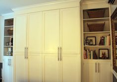 Custom built-In IKEA PAX........really want some built-ins for storage and book display in the den...and we LOVE ikea cabinets!!