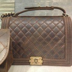 Chanel Rust Boy Large Bag