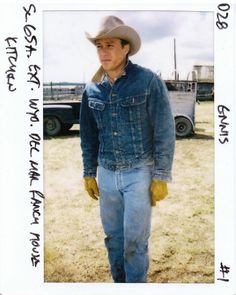"""heathledger: """"New production polaroids of Heath Ledger from the set of Brokeback Mountain (2005) """""""