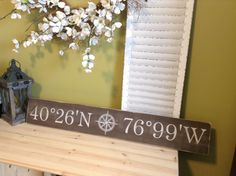 latitude longitude Personalized Latitude Longitude by WoodFinds