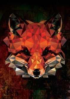 Polygon fox art animal design digital graphicdesign phone wallpaper