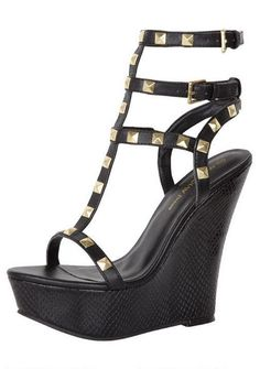 You had me at.. black. wedge. studded.