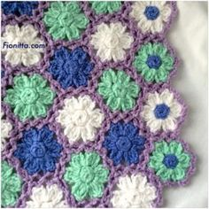 Spring flowers by Fionitta Crochet Afgans, Crochet Motif, Crochet Flowers, Crochet Stitches, Kilim Rugs, Spring Flowers, Crafty, Crochet Wraps, Baby Blankets