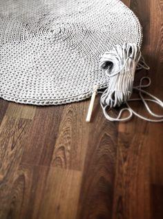#carpet round #dywan ze sznurka 80cm
