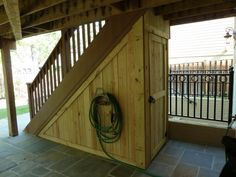 Shed Plans This wood storage shed takes advantage of the space beneath the stairway from the deck in the Arlington, VA home Now You Can Build ANY Shed In A Weekend Even If You've Zero Woodworking Experience!