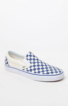 fc746868643ddf Vans Primary Classic Slip-On Blue and White Shoes at PacSun.com