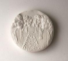 Tampon biscuit pour poterie chemin pavé marcher dans les
