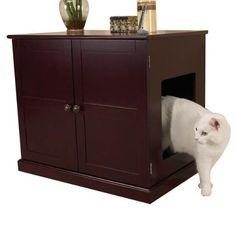 Pet Studio MDF Litter Box Cat Cabinet, Mahogany by Pet Studio. Good amazon reviews
