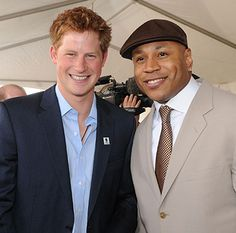 Prince Harry and LL Cool J. Niiiiiice.