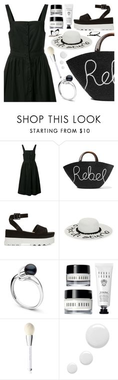"""black & white summer"" by sharmarie ❤ liked on Polyvore featuring Piamita, Eugenia Kim, Miu Miu, August Hat, Marc Jacobs, Topshop and Tiffany & Co."