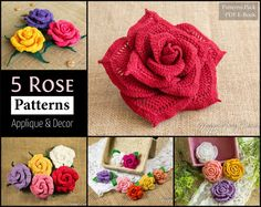 5 Roses Pattern Collections All Sizes Mini by HappyPattyCrochet