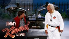 "Marty McFly & Doc Brown Visit Jimmy Kimmel Live  ""We use it to send little smiley faces to each other. Pictures of eggplants. That sort of thing."" ROFLLLL"
