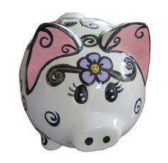 Flower Power Piggy Bank