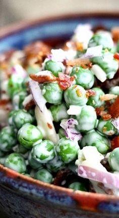 Easy Bacon Pea Salad