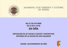 27/10 Oña Exposición de coches clásicos y deportivos #Merindades