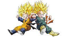 Goten e Trunks do Dragon Ball Z Vetorizado em CDR   Vetores Brasil