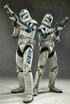 Clone Troopers: Were an army of identical, genetically-modified clones, created to serve in the Grand Army of the Republic during the full-scale intergalactic conflict that came to be known as the Clone Wars.