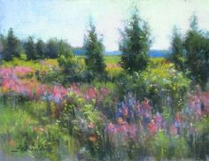 """Summer in Newbury"" by JC Airoldi Pastel ~ 11 x 14"