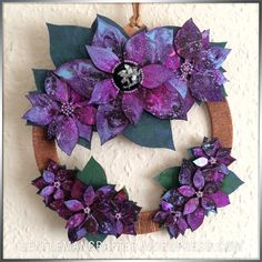 Wreath by John Bloodworth (Gentleman Crafter) using Designs by Georgina Poinsettia Wreath kit. More details - https://gentlemancrafter.wordpress.com/2015/11/23/christmas-is-coming-again/