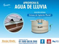 Aprovechar el agua de lluvia para uso domestico y de riego con el sistema de captación pluvial de Rotoplas.
