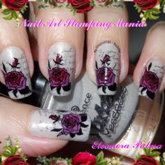 Nail Art Stamping Mania: LeadLight Mani With Permanent Markers and Mash Plate