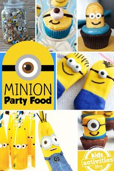 The coolest Minion party food - perfect for a party or just for fun!