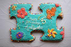 Puzzle themed cake for Ali's birthday. Adoption Cake, Adoption Party, Puzzle Party, Retirement Cakes, Gotcha Day, Kid Desserts, 2nd Birthday Parties, Birthday Ideas, Fancy Cakes